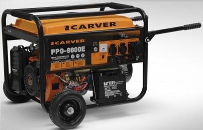 Бензиновый генератор Carver Ppg-8000Е