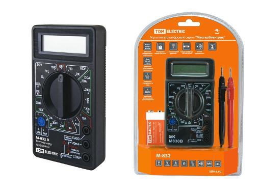 Мультиметр цифровой TDM МастерЭлектрик М-830В (SQ1005-0001)