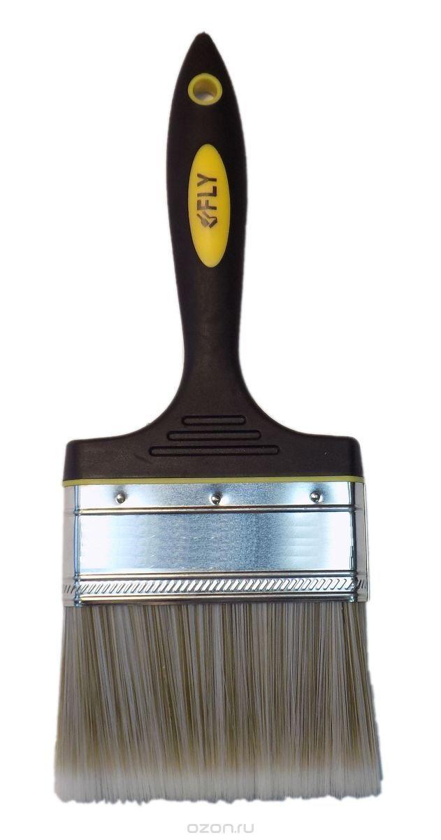 Кисть флейцевая FlyКисти малярные<br>Тип кисти: плоская, Щетина: искуственная, Ширина: 100, Материал рукоятки: древесина, Размер: 100<br>