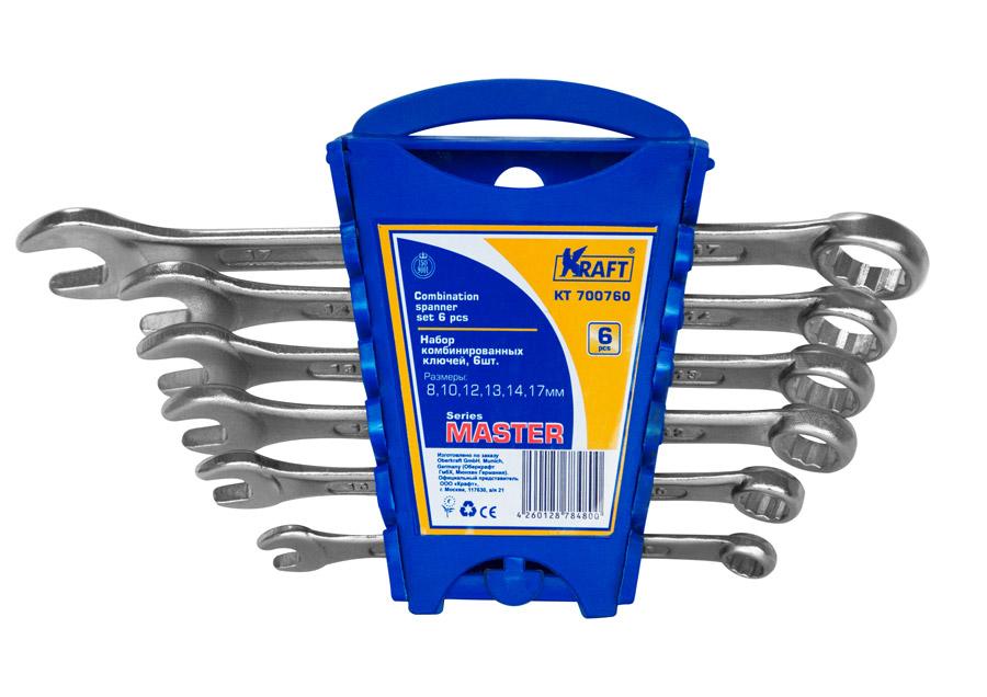 Набор ключей Kraft КТ 700760 master (8 - 17 мм) ключ гаечный комбинированный kraft кт 700553 6 20 мм