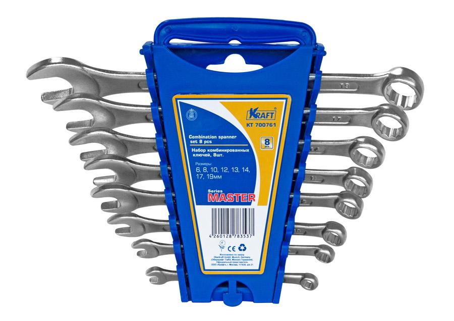Набор ключей Kraft КТ 700761 master (6 - 19 мм) ключ гаечный комбинированный kraft кт 700512 18 мм