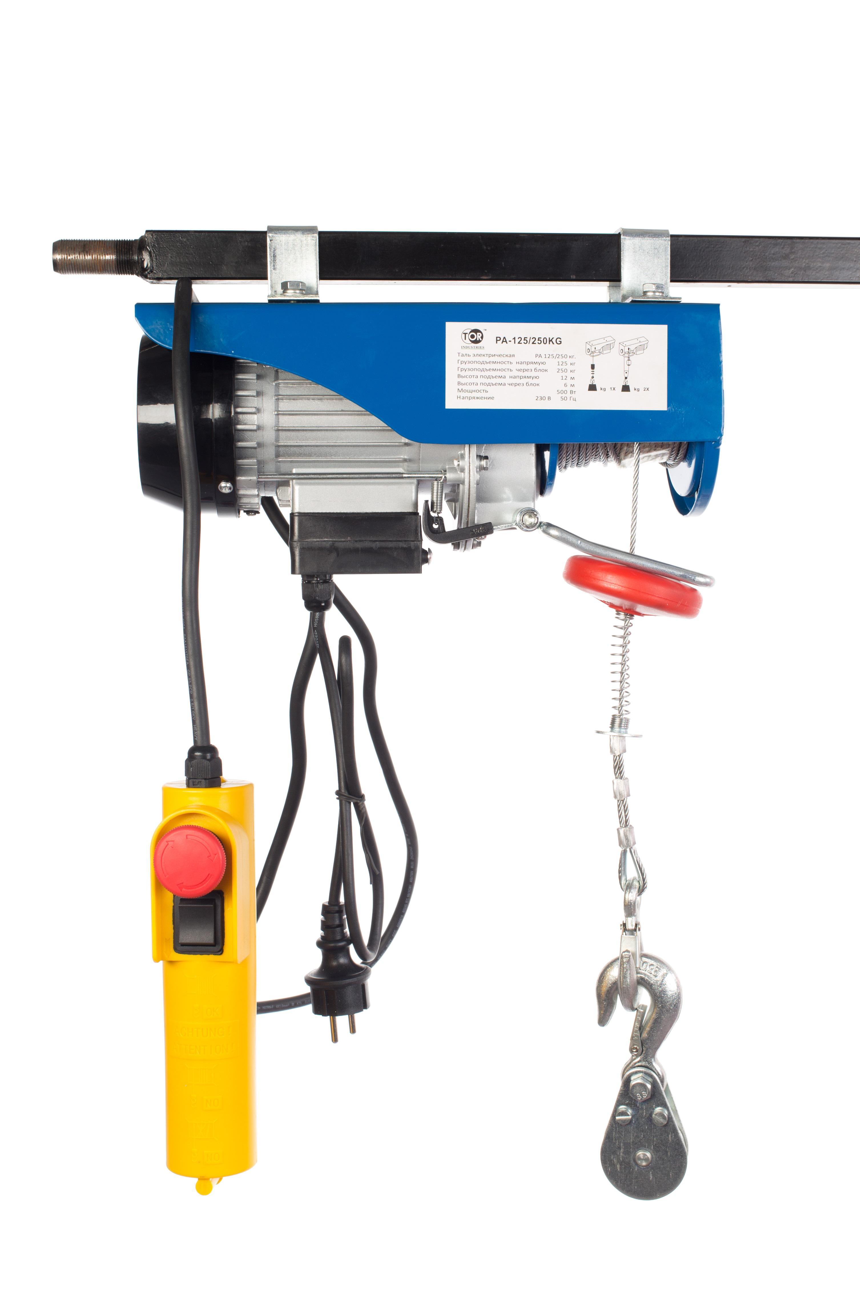 Таль электрическая Tor Pa-125/250 анкерный зажим so 250 01 pa 1500 niled 162655