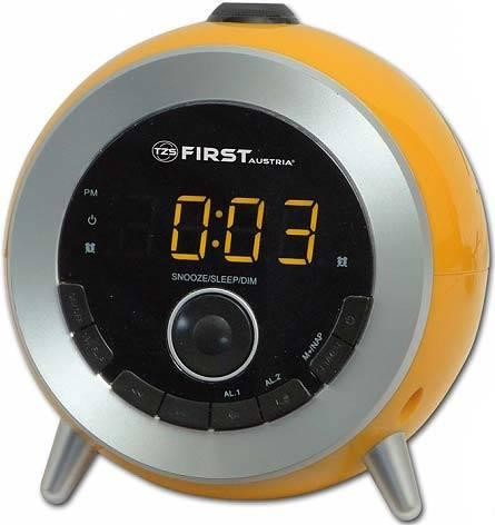 Часы-радио First Fa-2421-6 orange first fa 2421 5 black радиочасы c проектором