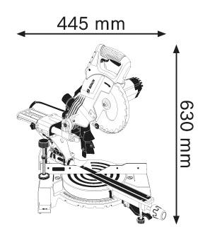 Пила торцовочная Bosch Gcm 800 sj (0.601.b19.000)