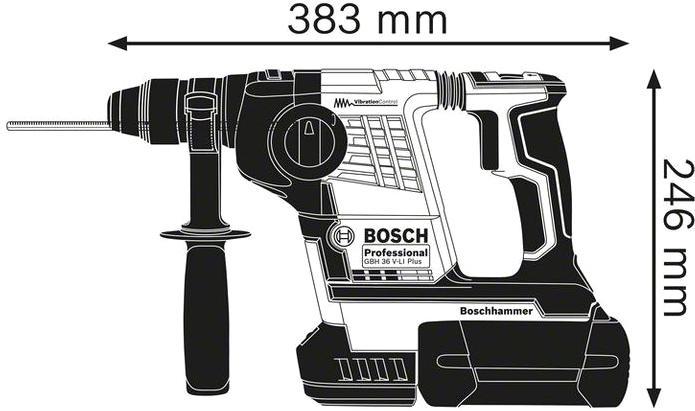 Перфоратор Bosch Gbh 36 v-li plus (0.611.906.002)