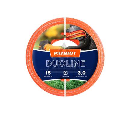 Леска для триммеров PATRIOT Duoline D 3,0мм L 15м