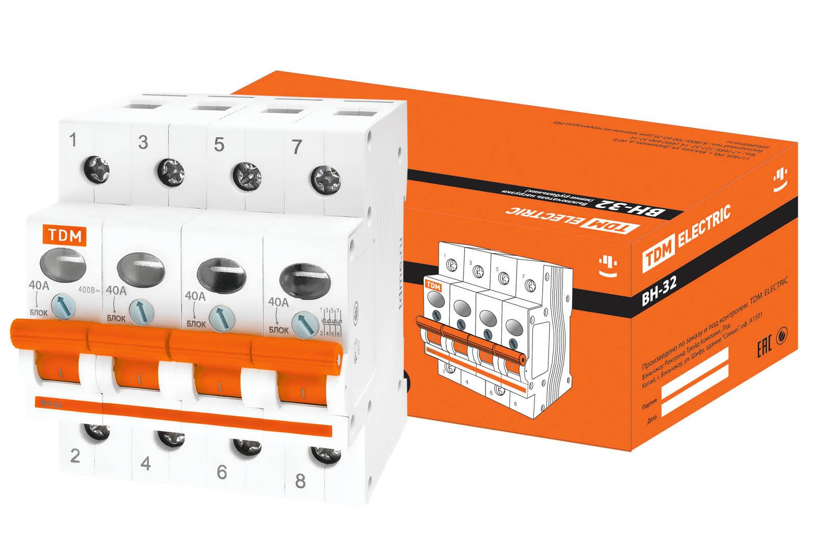 Рубильник Tdm Sq0211-0035 выключатель нагрузки мини рубильник tdm вн 32 4p 40a sq0211 0035