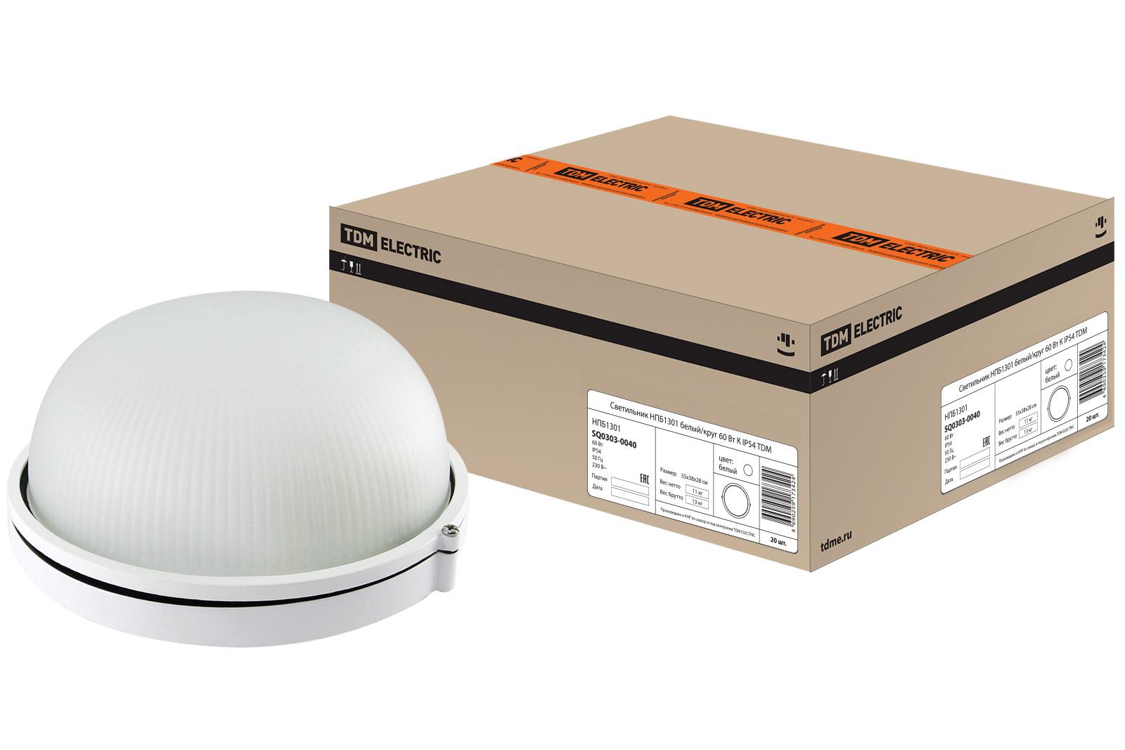 Светильник настенно-потолочный Tdm НПБ1301 светильник tdm electric нпб1301 white sq0303 0030