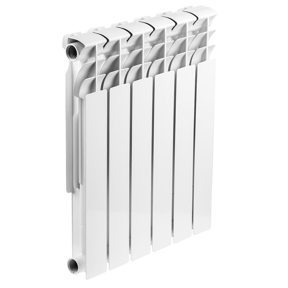 Радиатор биметаллический Rommer Optima bm 500/78 6 секций радиатор отопления rommer optima 500 алюминиевый 8 секций