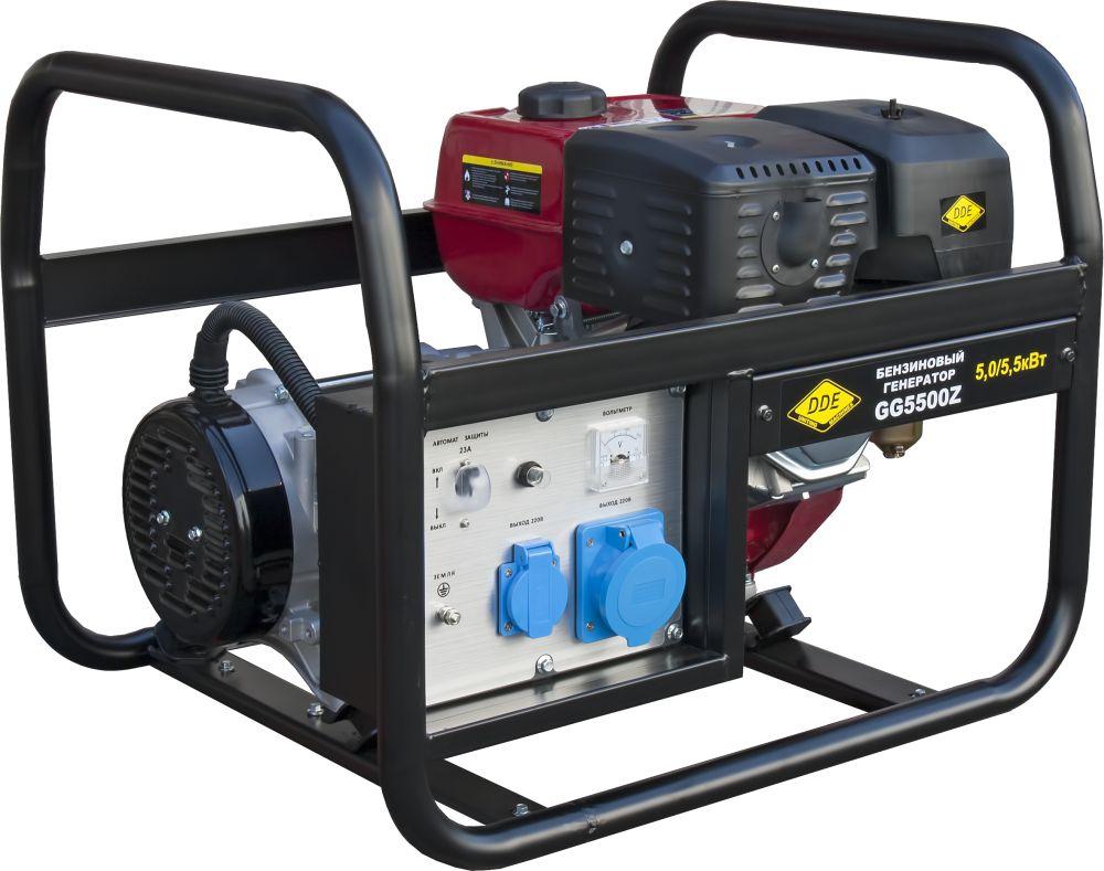 Бензиновый генератор Dde Gg5500z цена и фото