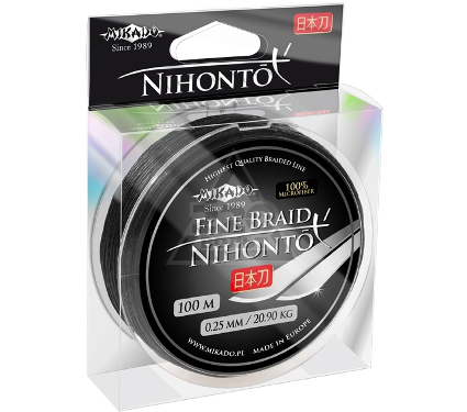 Шнур MIKADO NIHONTO FINE BRAID 0.12 black 100м