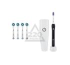 Набор: Зубная щетка ORAL-B 1000/D20.513.1 Black Precision Clean + 4 насадки ORAL-B EB50 Cross Action