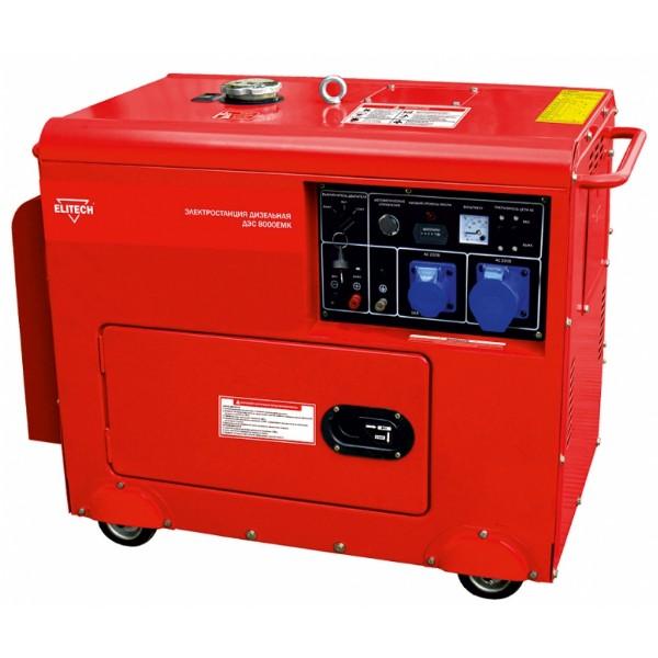 Генератор Elitech ДЭС 8000 ЕmК генератор elitech дэс 12000 еm