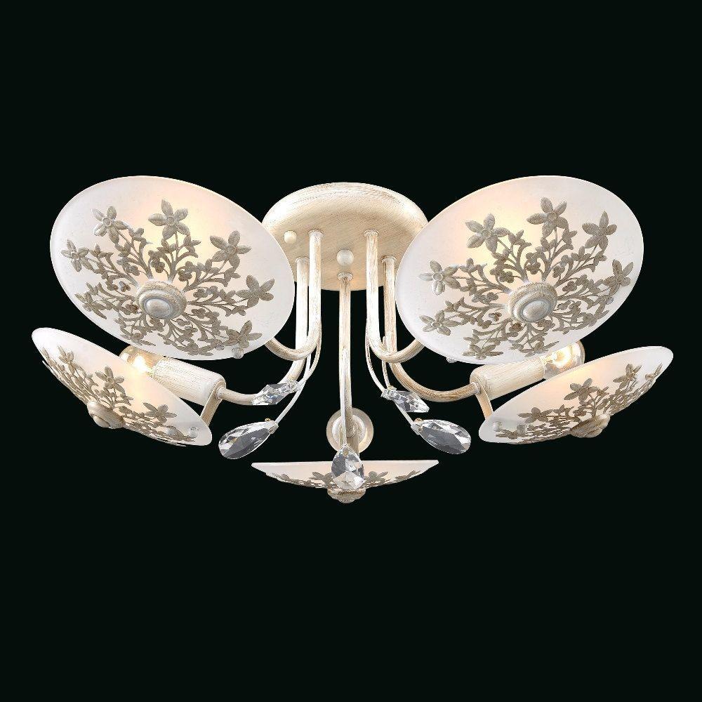Люстра МАКСИСВЕТ 1-8630-5-whs lucesolara люстра lucesolara 8001 5s цоколь е14 40w gold cream металл стекло 5 ламп