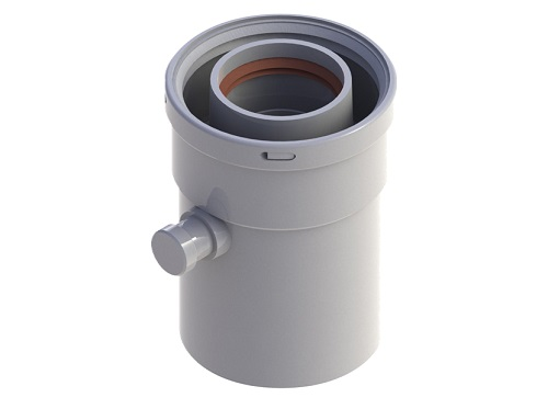 Конденсатосборник Stout Sca-6010-000101 элемент дымохода stout sca 6010 000500 dn60 100 труба коаксиальная 500мм п м