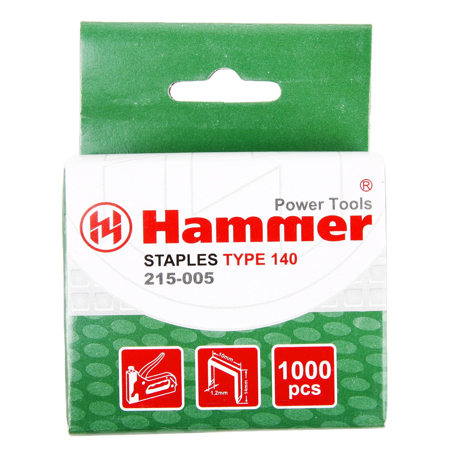 Скобы для степлера Hammer Скобы 14мм, 10мм, 1,2мм (тип 53f) скобы для степлера novus 14мм тип 53 5000шт 042 0520