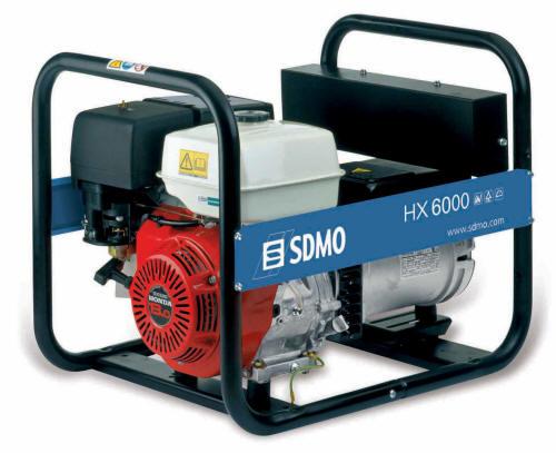 Бензиновый генератор Sdmo Hx 6000 sdmo hx 6000s