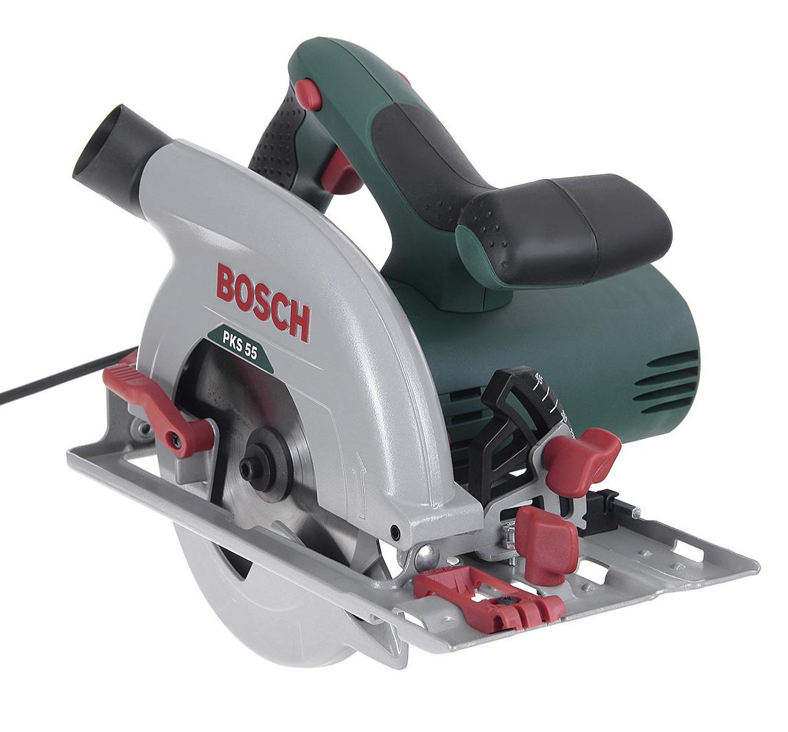Циркулярная (дисковая) пила Bosch Pks 55 (0.603.500.020) аккумуляторная дисковая пила bosch pks 18 li 2 5ah x1 06033b1302