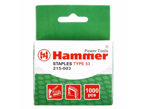 Скобы для степлера HAMMER 215-003 14мм, тип 53, 1000 шт.