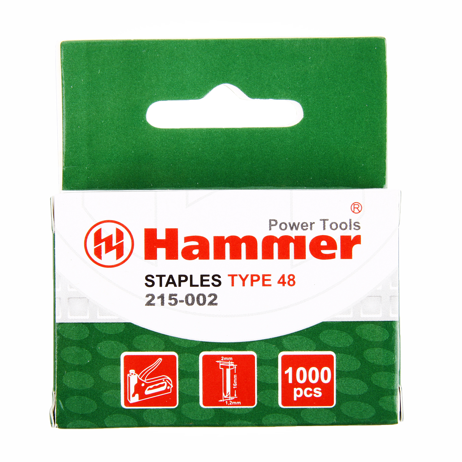 Гвозди для степлера Hammer Гвозди 16мм, 1.25мм Т-образные (тип48)