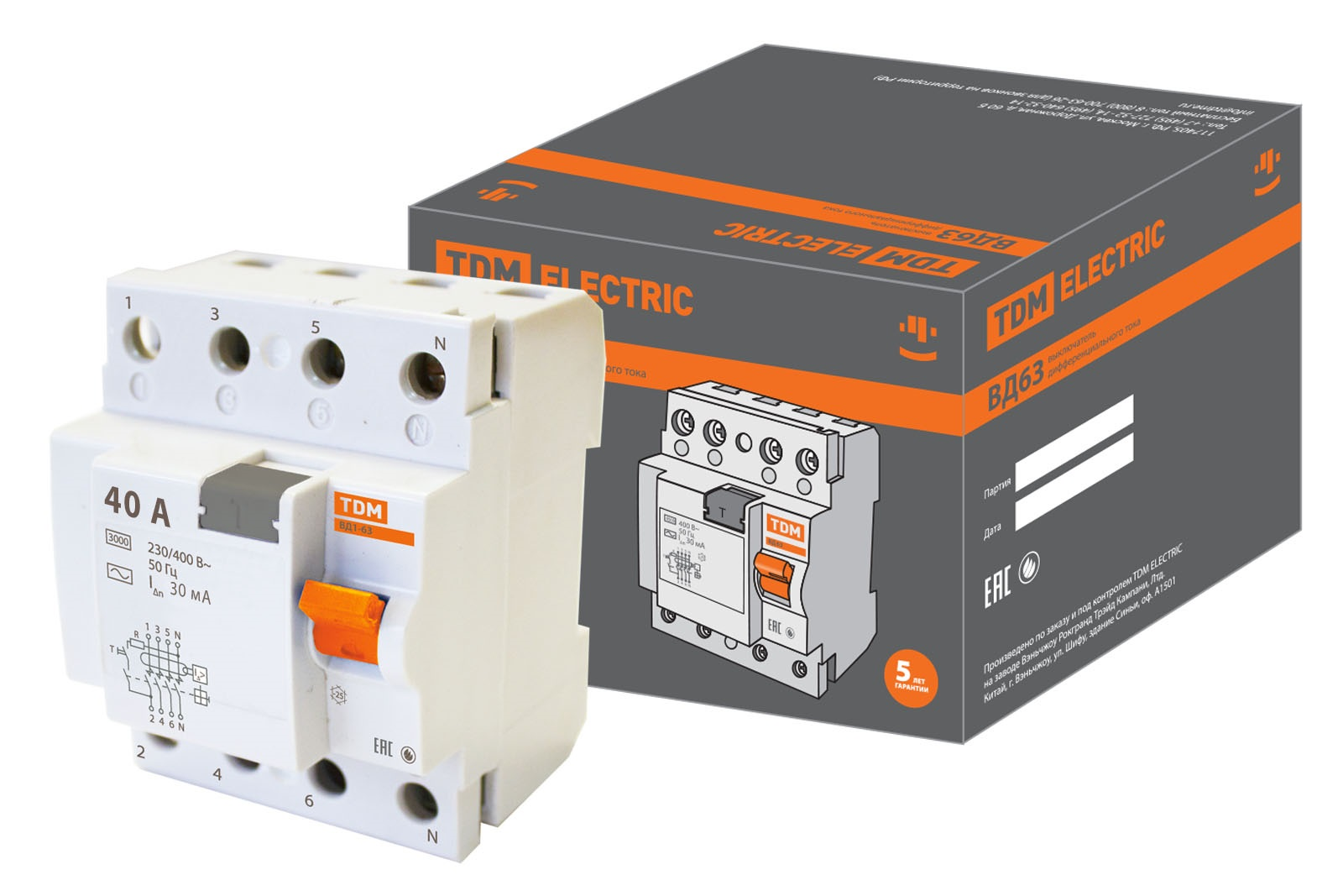 УЗО Tdm Sq0220-0009 сигнальная лампа зеленая tdm лс 47 led ac dc sq0214 0009