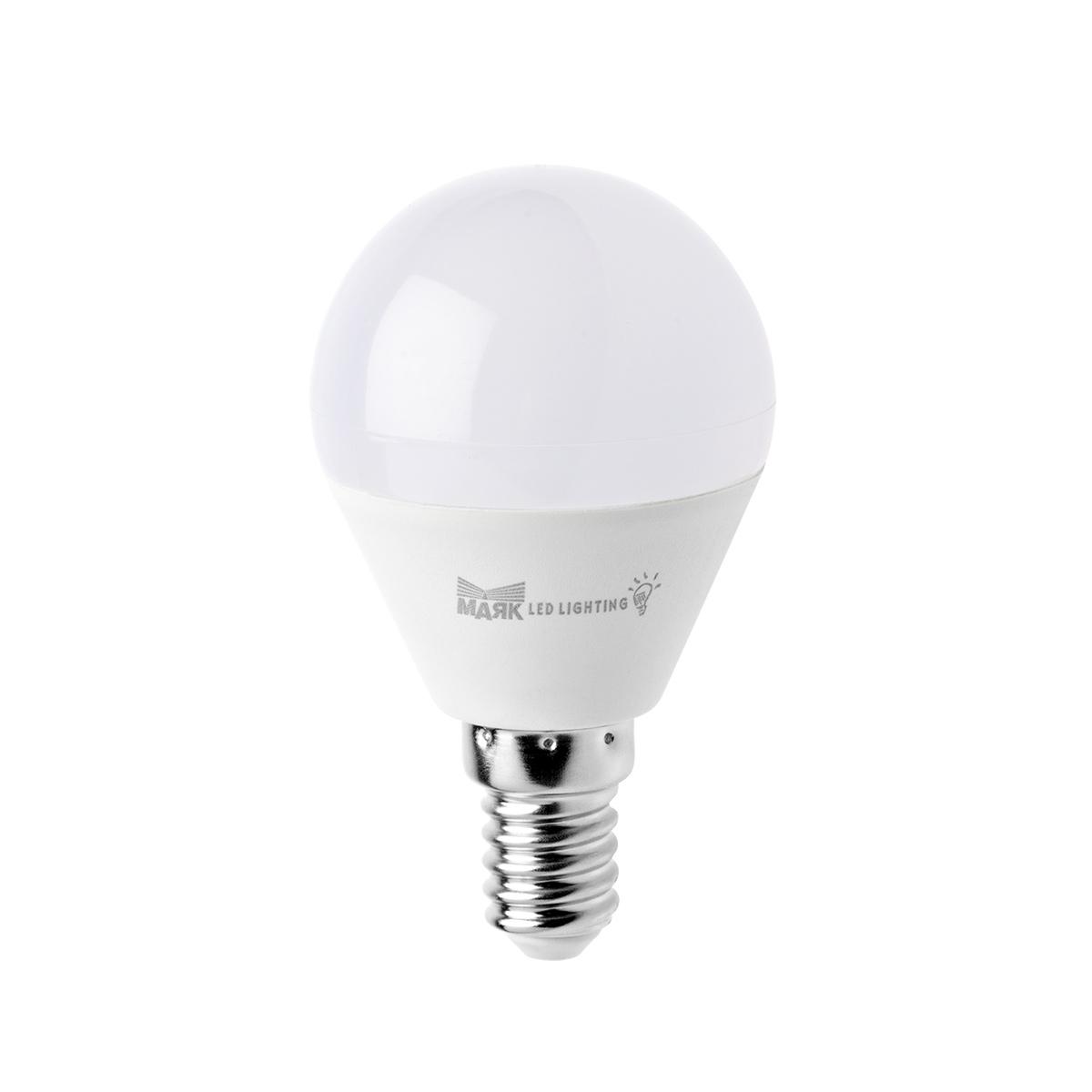 Лампа светодиодная МАЯК B45/e14/6w/4000k лампа светодиодная филаментная classic f e14 6w 3300k шар золотой 4690389108303