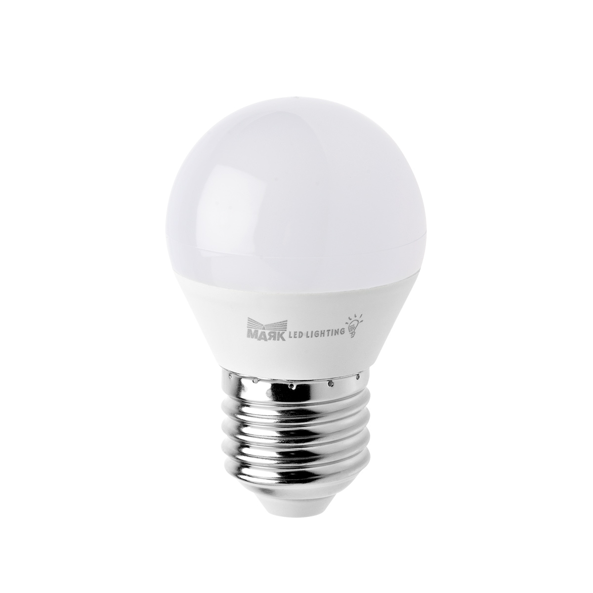 Лампа светодиодная МАЯК B45/e27/6w/3000k  лампа светодиодная e27 6w 3300k шар прозрачный 4690389100987