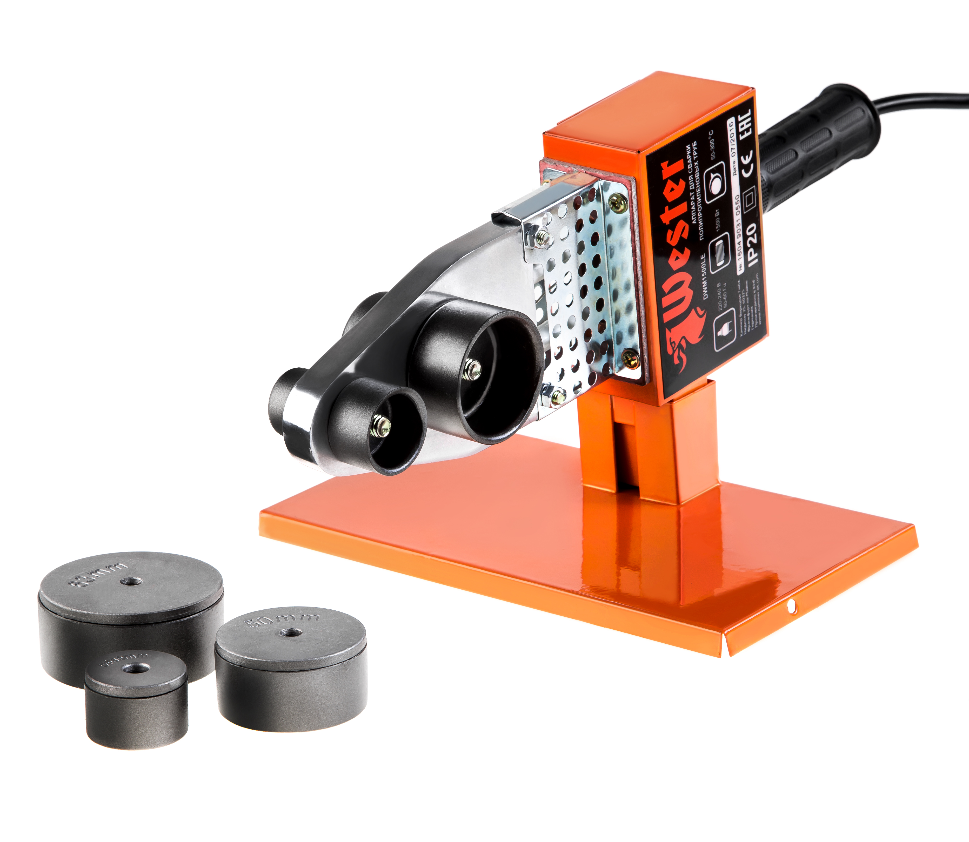 Аппарат для сварки пластиковых труб Wester Dwm1500le электроды для сварки wester ано 4 3 0мм 1кг