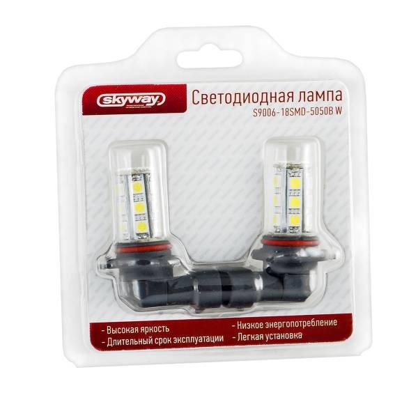 Лампа автомобильная Skyway S9006 5050-18b