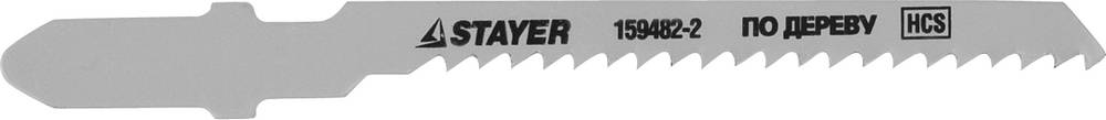 Пилки для лобзика Stayer Standard159482-2 пилки для лобзика по металлу для прямых пропилов bosch t118a 1 3 мм 5 шт