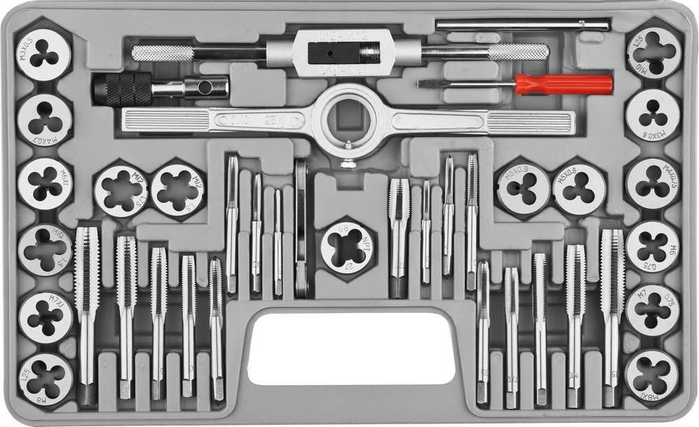 Набор метчиков и плашек Stayer Profi 2805-h40 набор диэлектрических отверток stayer profi electro с тестером 8 предметов