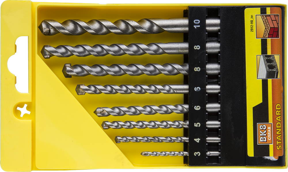 Набор сверл Stayer Standard2912-h8_z01 набор ключей комбинированных stayer master 27085 h6