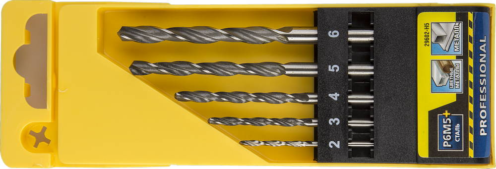 Набор сверл Stayer Profi 29602-h5 набор диэлектрических отверток stayer profi electro с тестером 8 предметов