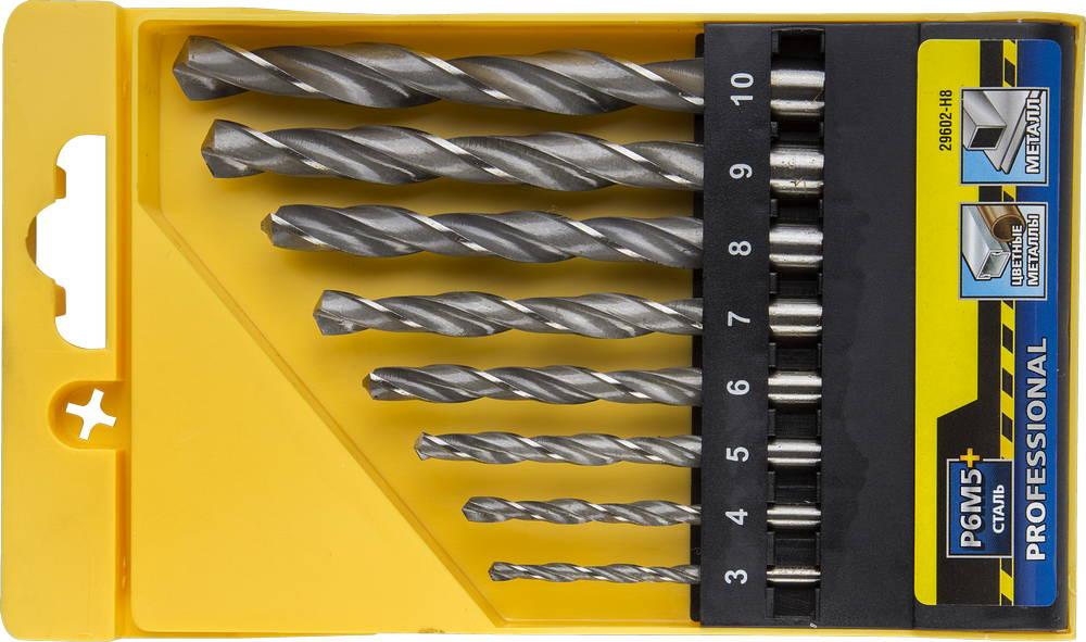 Набор сверл Stayer Profi 29602-h8 набор диэлектрических отверток stayer profi electro с тестером 8 предметов