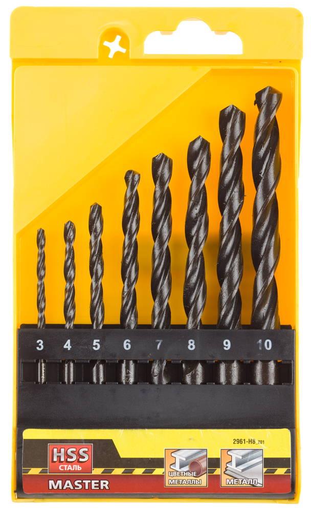 Набор сверл Stayer Master 2961-h8_z01 набор сверл по металлу stayer master 2961 h8 z01