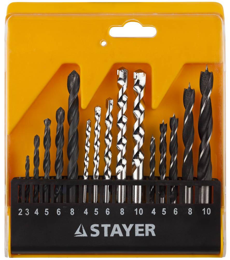 Набор сверл Stayer Standard29720-h16 набор ключей комбинированных stayer master 27085 h6