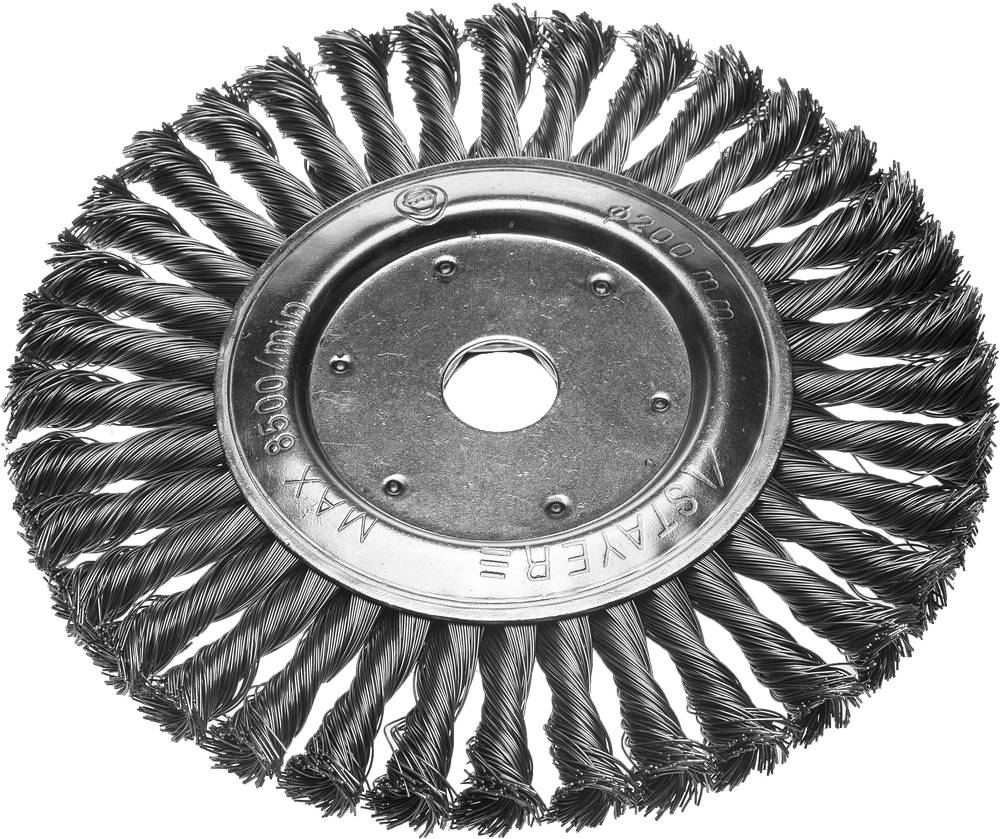 Кордщетка Stayer плоская 200мм для УШМ витая сталь (35190-200) кордщетка edge плоская 180мм для ушм витая сталь 813010013