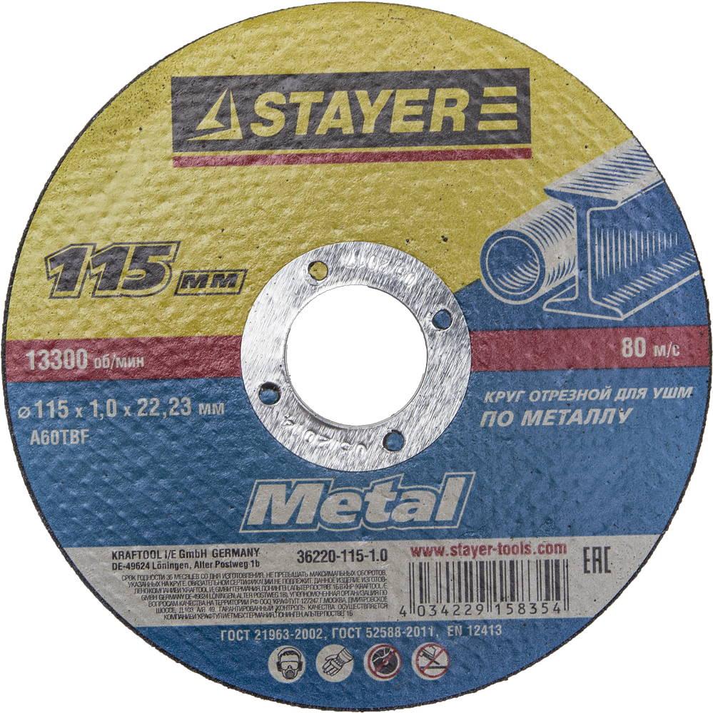 Круг отрезной Stayer 115х1х22 master 36220-115-1.0 smeg scv 115