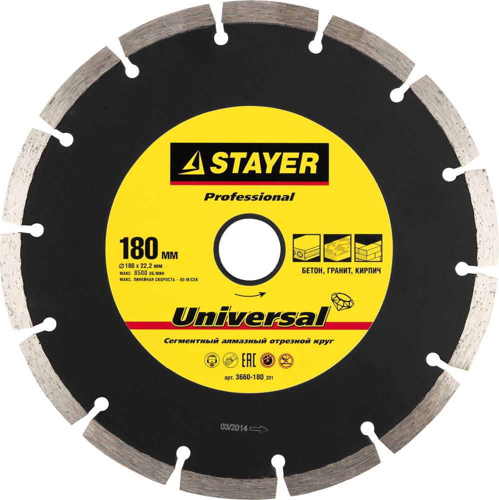 Круг алмазный Stayer Professional 3660-180_z01 краскораспылитель пневматический stayer professional с нижним бачком