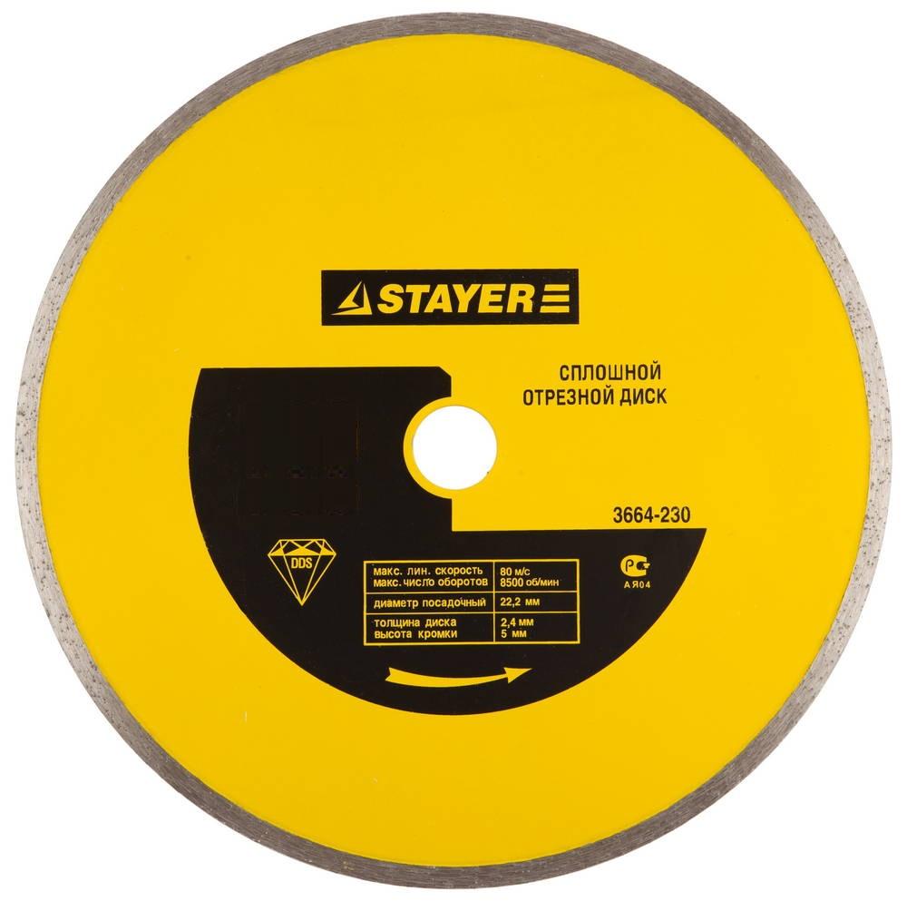 Круг алмазный Stayer Master 3664-200 диск алмазный diam 150х22 2мм master турбо 000160