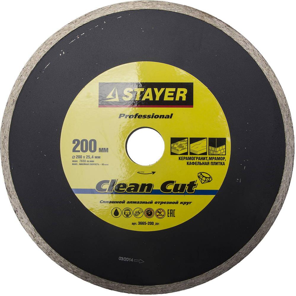 Круг алмазный Stayer Professional 3665-200_z01 краскораспылитель пневматический stayer professional с нижним бачком
