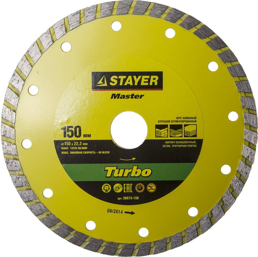 Круг алмазный Stayer Master 36673-150 цена