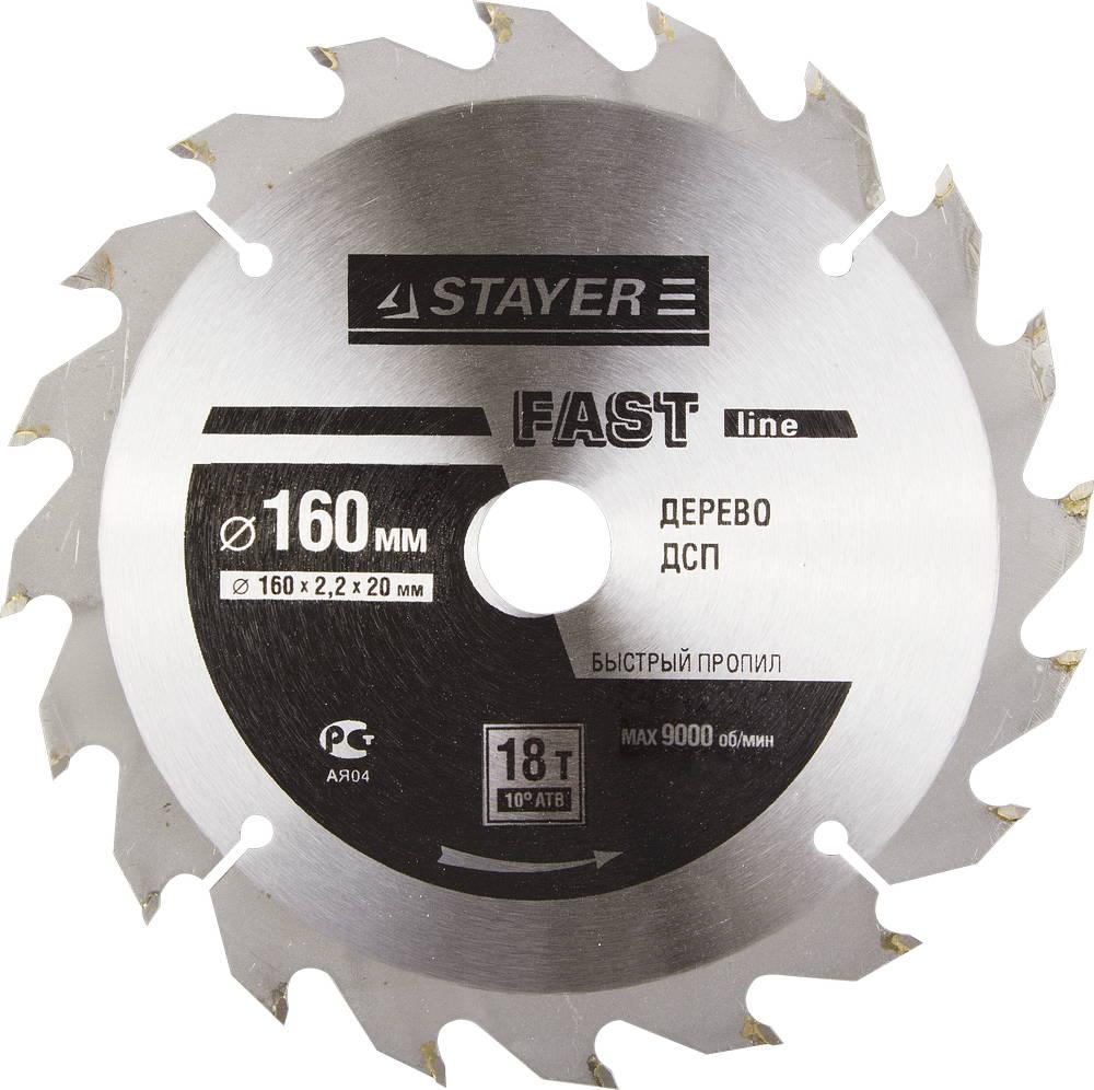 Диск пильный твердосплавный Stayer Master 3680-160-20-18 диск алмазный diam 150х22 2мм master турбо 000160