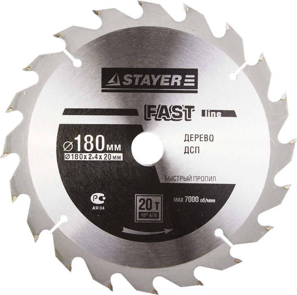 Диск пильный твердосплавный Stayer Master 3680-180-20-20 диск алмазный diam 150х22 2мм master турбо 000160