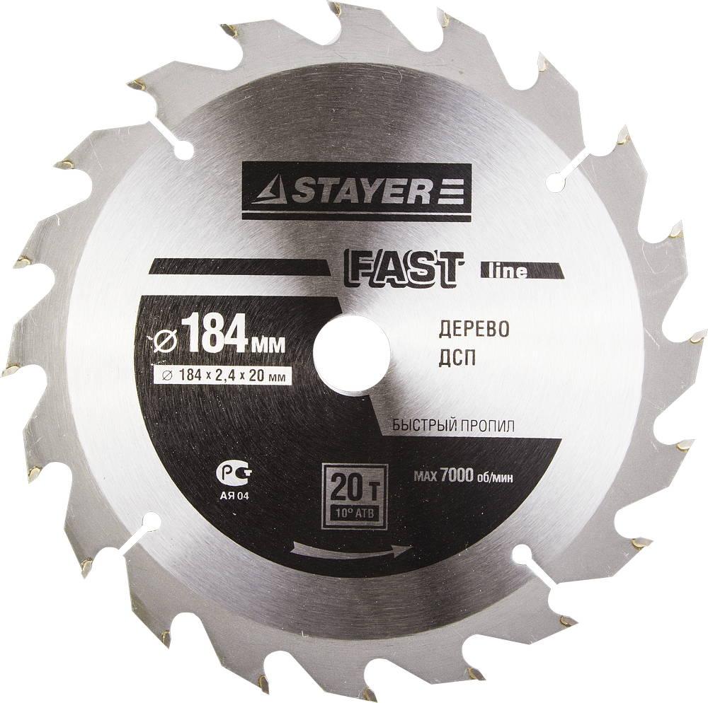 Диск пильный твердосплавный Stayer Master 3680-184-20-20 диск алмазный diam 150х22 2мм master турбо 000160