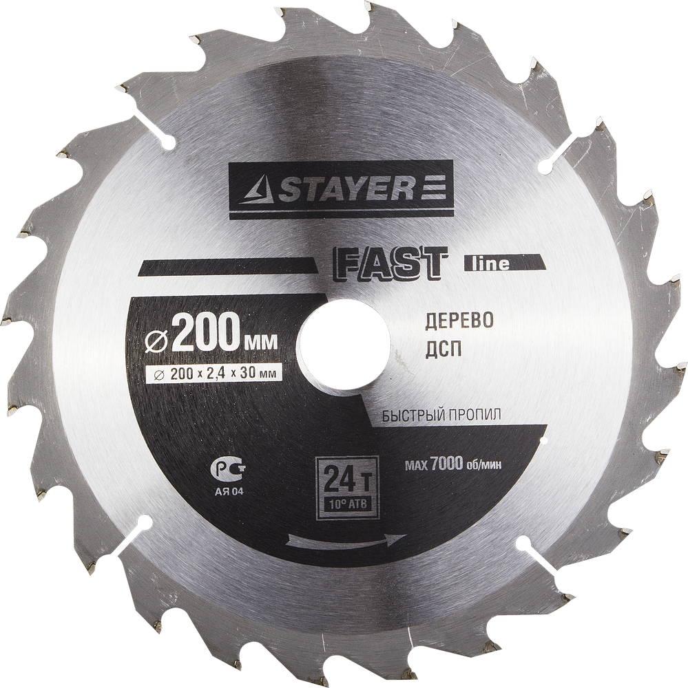 Диск пильный твердосплавный Stayer Master 3680-200-30-24 диск алмазный diam 150х22 2мм master турбо 000160