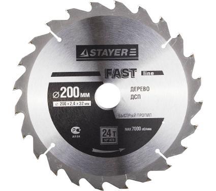 Диск пильный твердосплавный STAYER Ф200х32мм 24зуб. (MASTER 3680-200-32-24)
