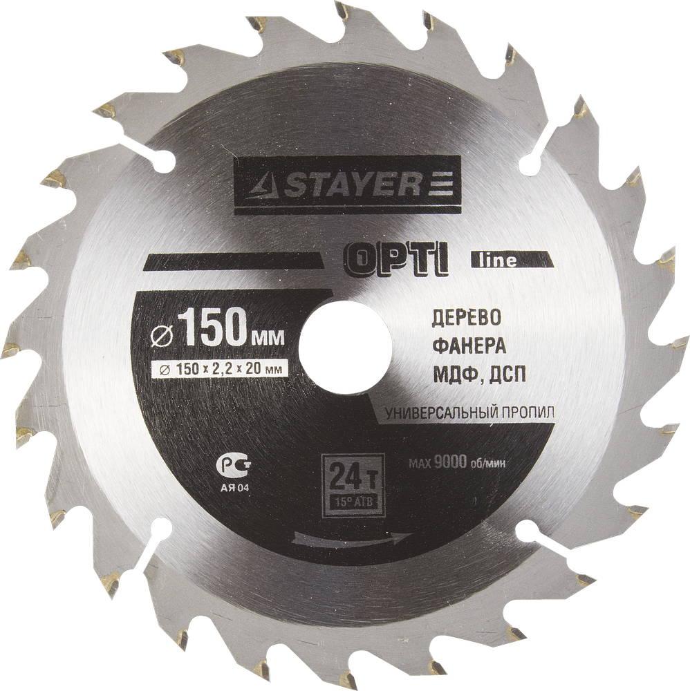 Диск пильный твердосплавный Stayer Master 3681-150-20-24 диск алмазный diam 150х22 2мм master турбо 000160