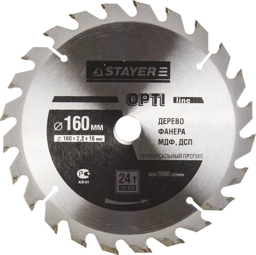 Диск пильный твердосплавный Stayer Master 3681-160-16-24 диск алмазный diam 150х22 2мм master турбо 000160