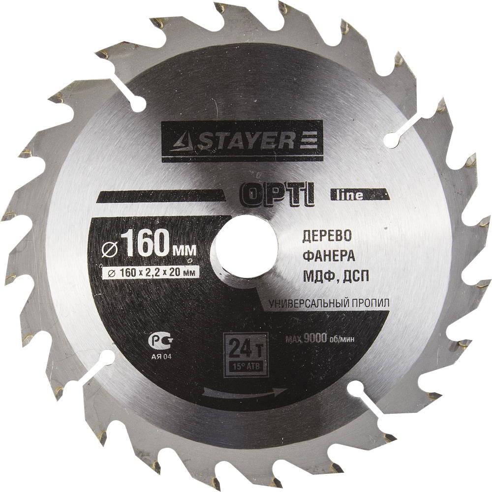 Диск пильный твердосплавный Stayer Master 3681-160-20-24 диск алмазный diam 150х22 2мм master турбо 000160